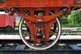 Wheel of Train on Railway — Zdjęcie stockowe