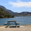 Bench in Lakeside — Stock Photo #75189333