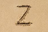 Lettera di sabbia — Foto Stock