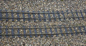 Rails railway sleepers — Stock Photo