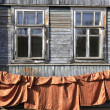 Windows in an old wooden house — Stock Photo #62553865