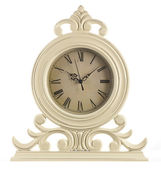Old table clock with arrows — Stock Photo