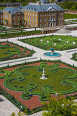Palaces and gardens birds eye view — Stock Photo