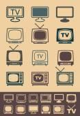 Retro tv receiver vector - Illustration — Stock Vector
