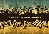 Seamless musical banner — Stock Vector