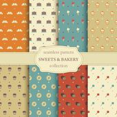 Sweets and bakery seamless pattern — Wektor stockowy