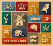 Netherlands icons — Stock Vector