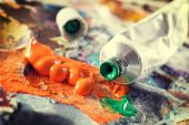 Aristic acrylics paints — Fotografia Stock