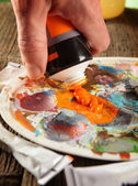 Aristic acrylics paints — Stock Photo