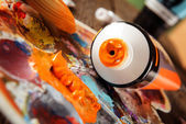 Aristic acrylics paints — Foto Stock