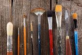 Aristic paint brushes — Stock Photo
