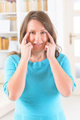 EFT tapping points — Stock Photo