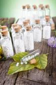 Homeopathic globules — Stock Photo