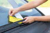 Parking ticket — Stock Photo