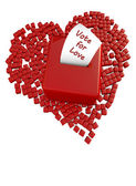 Voting box and heart — Stock Photo