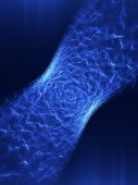 Blue abstract lines — Stock Photo