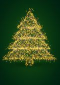 Christmas lights tree — Stock Photo