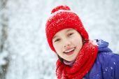 Girl in the winter. teen outdoors — Fotografia Stock