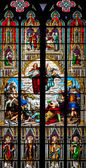Detail of the stained glass window — Stock Photo