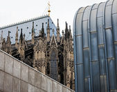 Architectural differencs in Cologne — Stock Photo