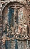 Crucifix relief — 图库照片