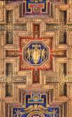 Architectonic detail of church Santa Maria Aracoeli in Rome — Stock Photo