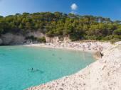 Mitjana beach in Menorca, Spain. — Stock Photo
