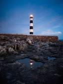 Artrutx lighthouse at twilight — Stock Photo