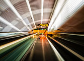 Moving stairs in an airport — Foto Stock