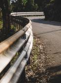 Guardrail and curve — Stock Photo