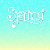 Ilustração vetorial de primavera — Vetor de Stock