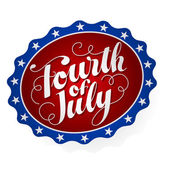 Fourth of July Badge — Stock Vector