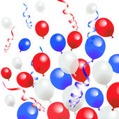 Fourth Of July Balloons — Stock Vector