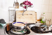 Chaos in the kitchen — Stock Photo