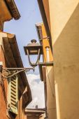 Muggia,windows typical of the town. — Stock Photo
