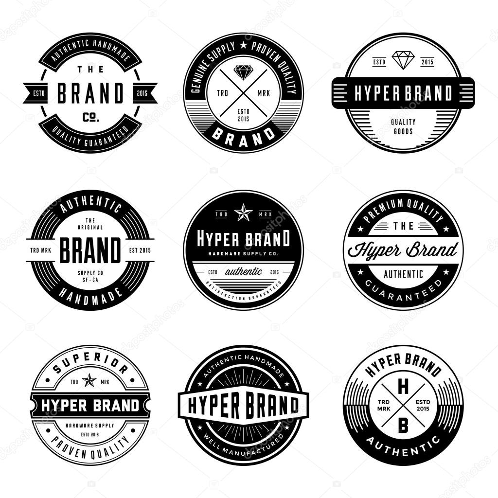 VINTAGE LOGO   BADGES ...