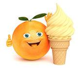 Orange ice cream — Stock Photo