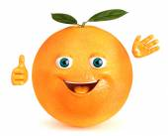Orange happy saluting — Stock Photo