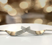 Forks lovers — Stock Photo