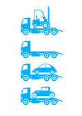 Tow truck icons on white background — Stock Vector