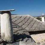 Flagstone roof in the village of Pocitelj, Bosnia Herzegovina. — Stock Photo #57512561