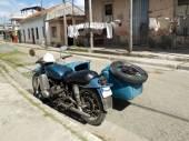 Vintage blue side-car. — Foto Stock
