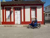 Colored facade. — Stock Photo