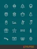 Christmas Icons Set    Pixel Perfect Icons Set — Stock Vector