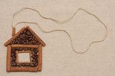 Kaneel en koffie huis — Stockfoto