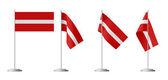 Small table flag of Latvia — Stock Photo