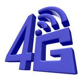 Blue 4G symbol on white background — Stock Photo
