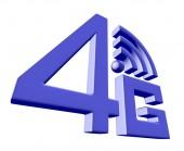 白色背景上的蓝色 4g 符号 — 图库照片