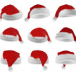 Santa Claus red hat collection — Stock Photo #56843171