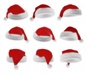 Santa Claus red hat collection — Stock Photo